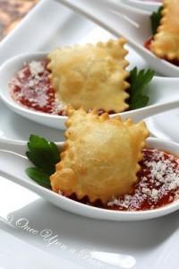 crispy ravioli