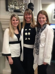 Me with Willowbrook's Women's Ministry associate, Chris and Director, Bobi Ann!  See, I fit in...we all dressed alike!