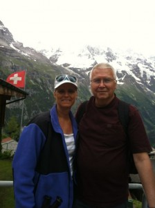 Andy and me in Murren Switzerland about an hour from our home in Lorrach Germany!