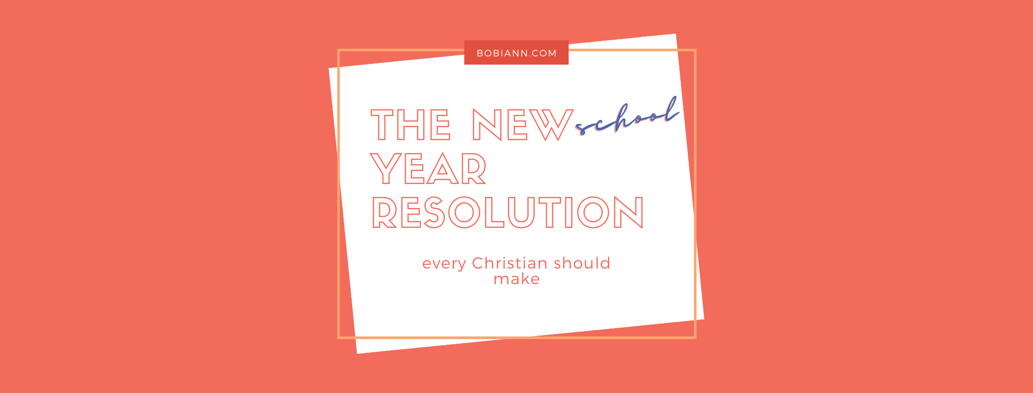 The New School Year Resolution Every Christian Should To Make