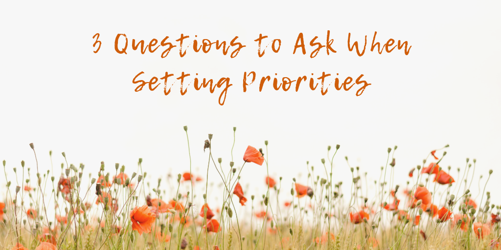 Three Questions To Ask When Setting Priorities