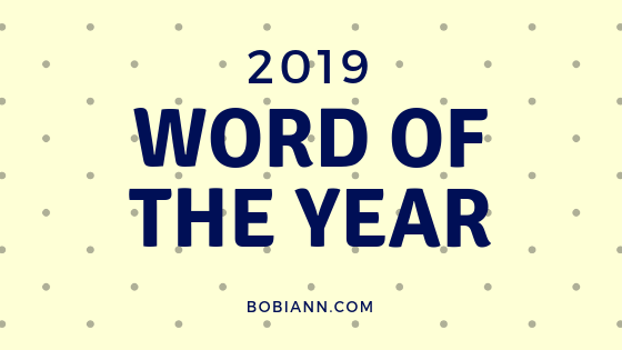 2019 Word of the Year